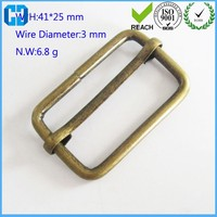 Antique Brass Plated Sliding Bar Buckle Purse Slider For Wholesale
