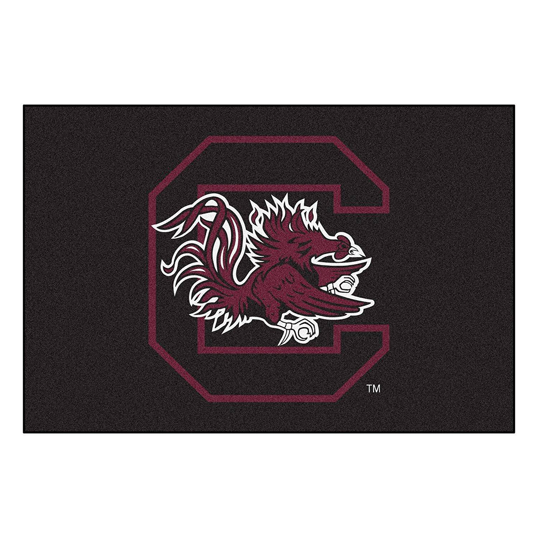 FANMATS NCAA University of South Carolina Gamecocks Nylon Face Starter Rug