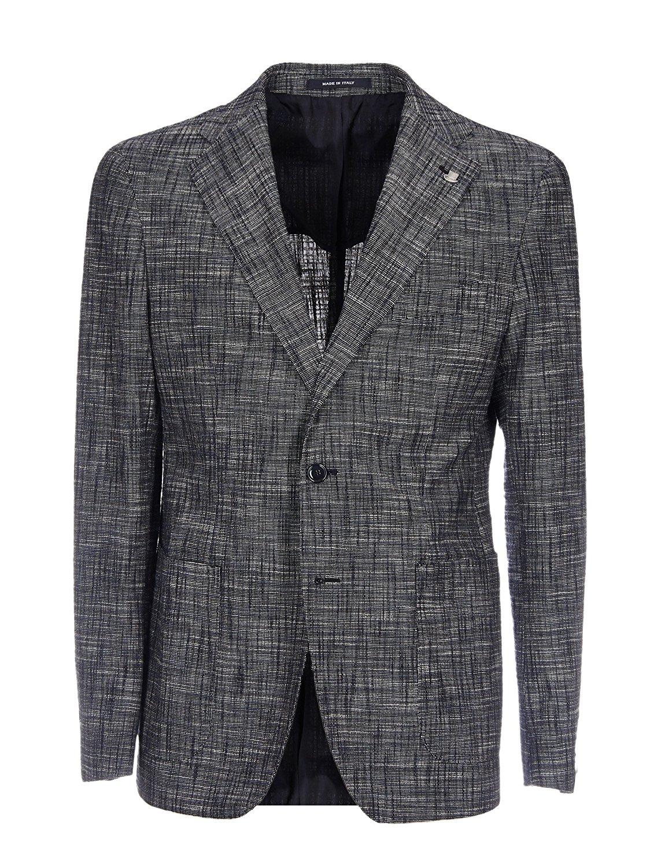 TAGLIATORE Men's 1SVS22K97UEG111B1334 Grey Cotton Blazer