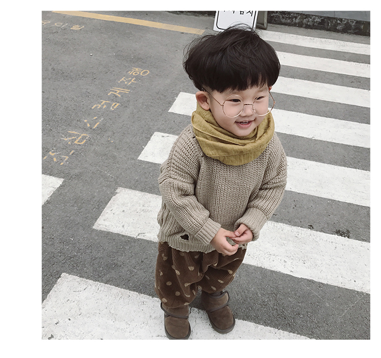 2016/Wholesale exquisite winter clothes new design wool sweater for kids