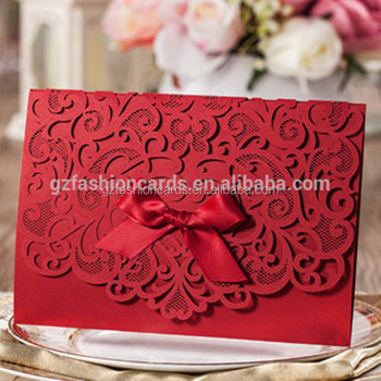 Wholesales royal red laser luxury with ribbon wedding invitation wholesales royal red laser luxury with ribbon wedding invitation letter design stopboris Image collections