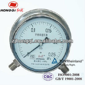 CYW-150B low pressure stainless steel differential pressure gauge 0~25Kpa
