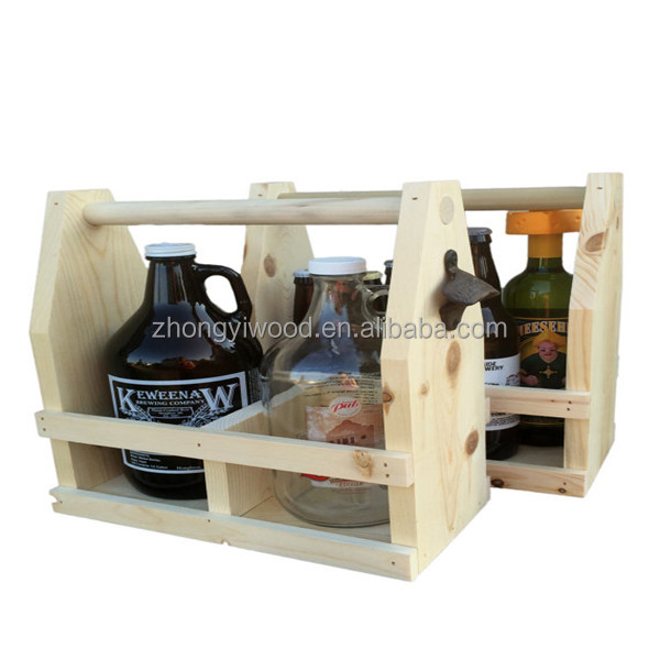 Do It Yourself Unstained Wood Beer , Personalized Beer Caddy, wooden 6 pack beer bottle carrier