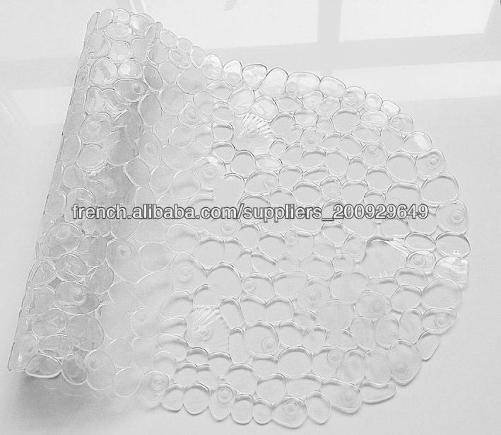 pvc pas cher clair tapis salle de bain rond tapis de salle de bain id de produit 500000719773. Black Bedroom Furniture Sets. Home Design Ideas