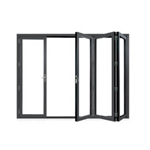 China factory direct supply glass folding door toilet