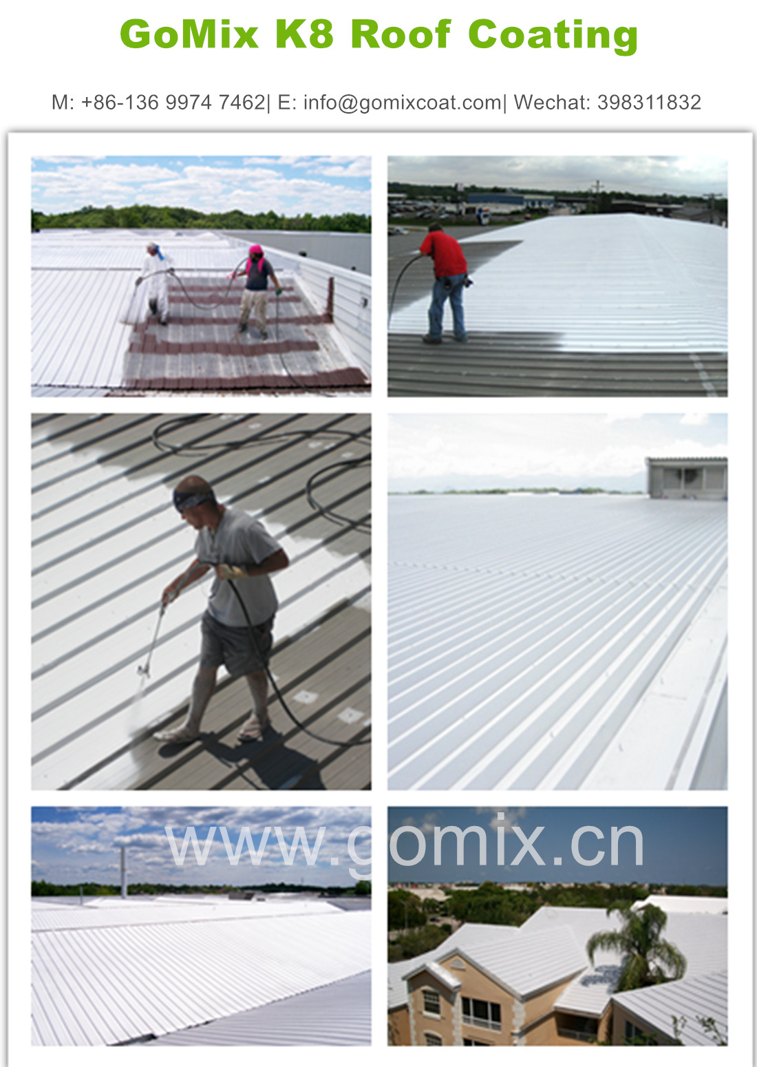 K8-2 Elastomeric Roof Coating, View Elastomeric Roof Coating, GoMix Product  Details from Gomix Building Materials (Guangzhou) Co , Limited on