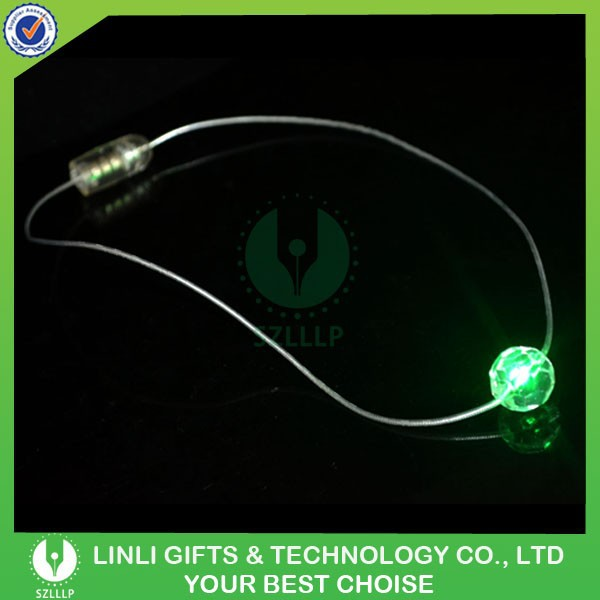 Season Holiday Decoration Green LED Christmas Necklace