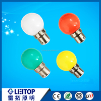Hot sale G45 b22 led bulb 1w color light decorative lamps from manufacture