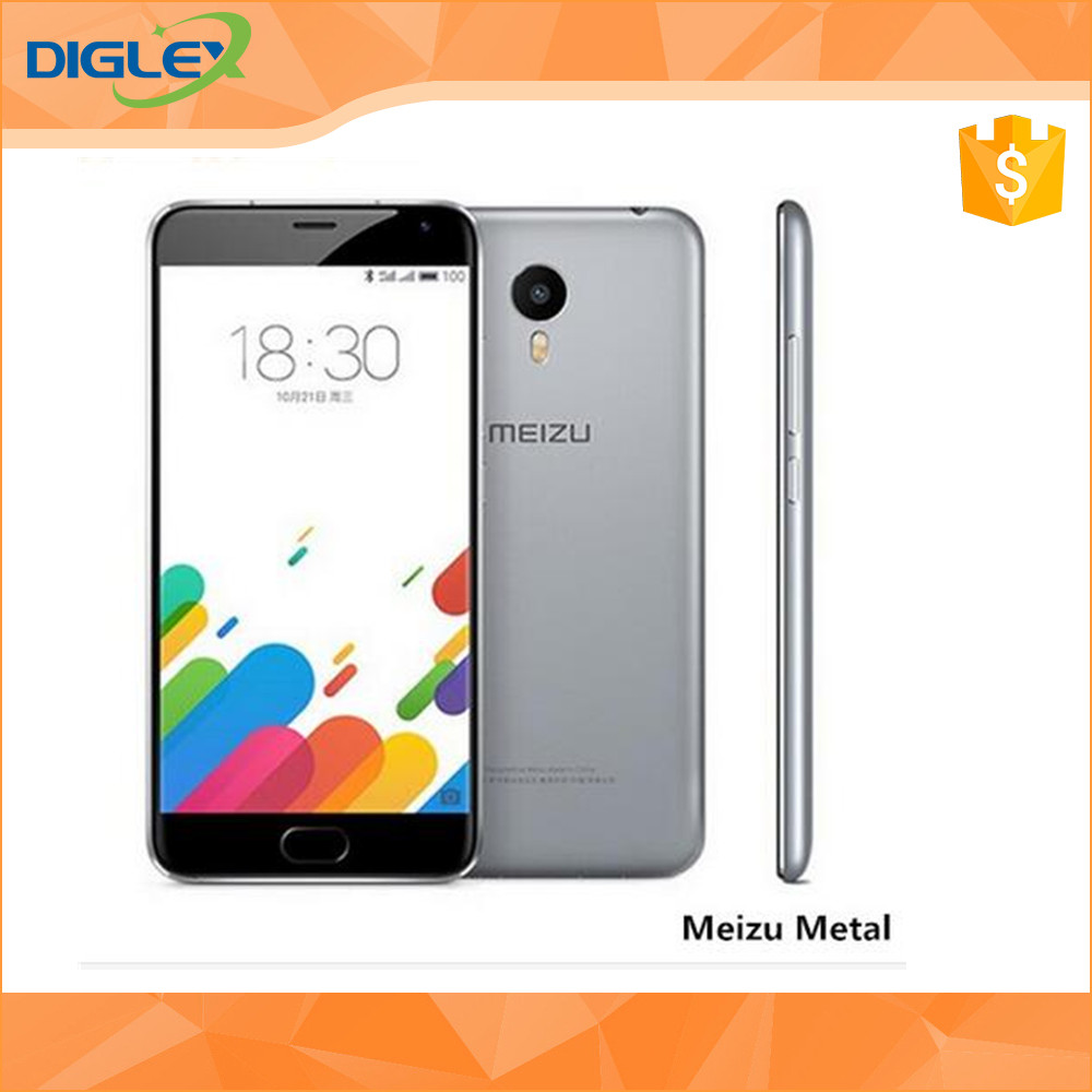 Original Meizu metal 5.5 inch Helio X10 Octa Core 2.0GHz Flyme 5 Front 5.0Mp and Back 13.0Mp RAM 2GB/ROM 16GB smartphone