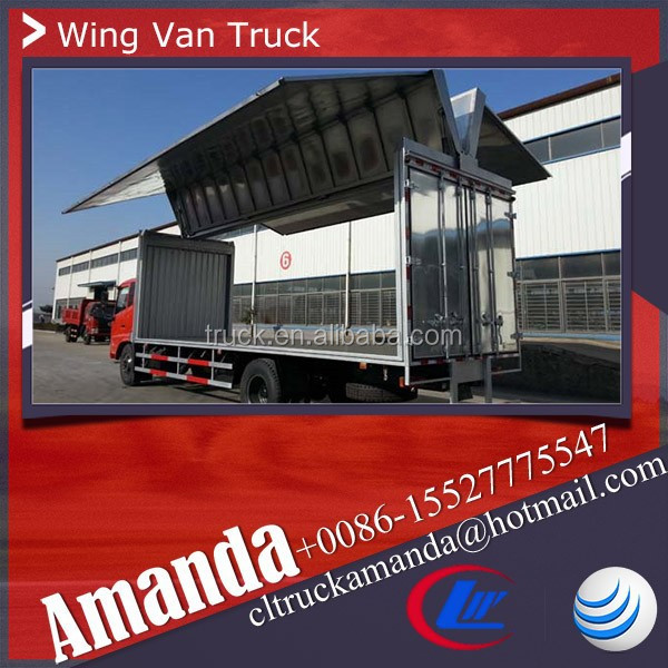 JAC 4*2 108hp light duty wing body truck, wing open truck, wing van truck