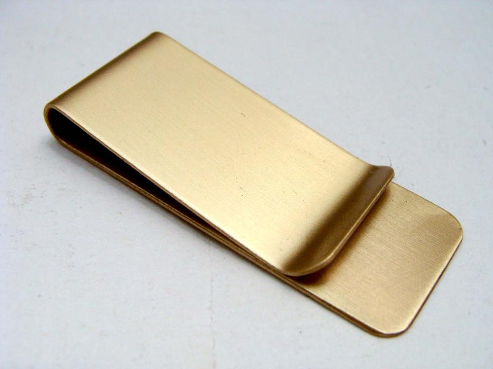 Cheap metal blank brass money clip with custom's logo