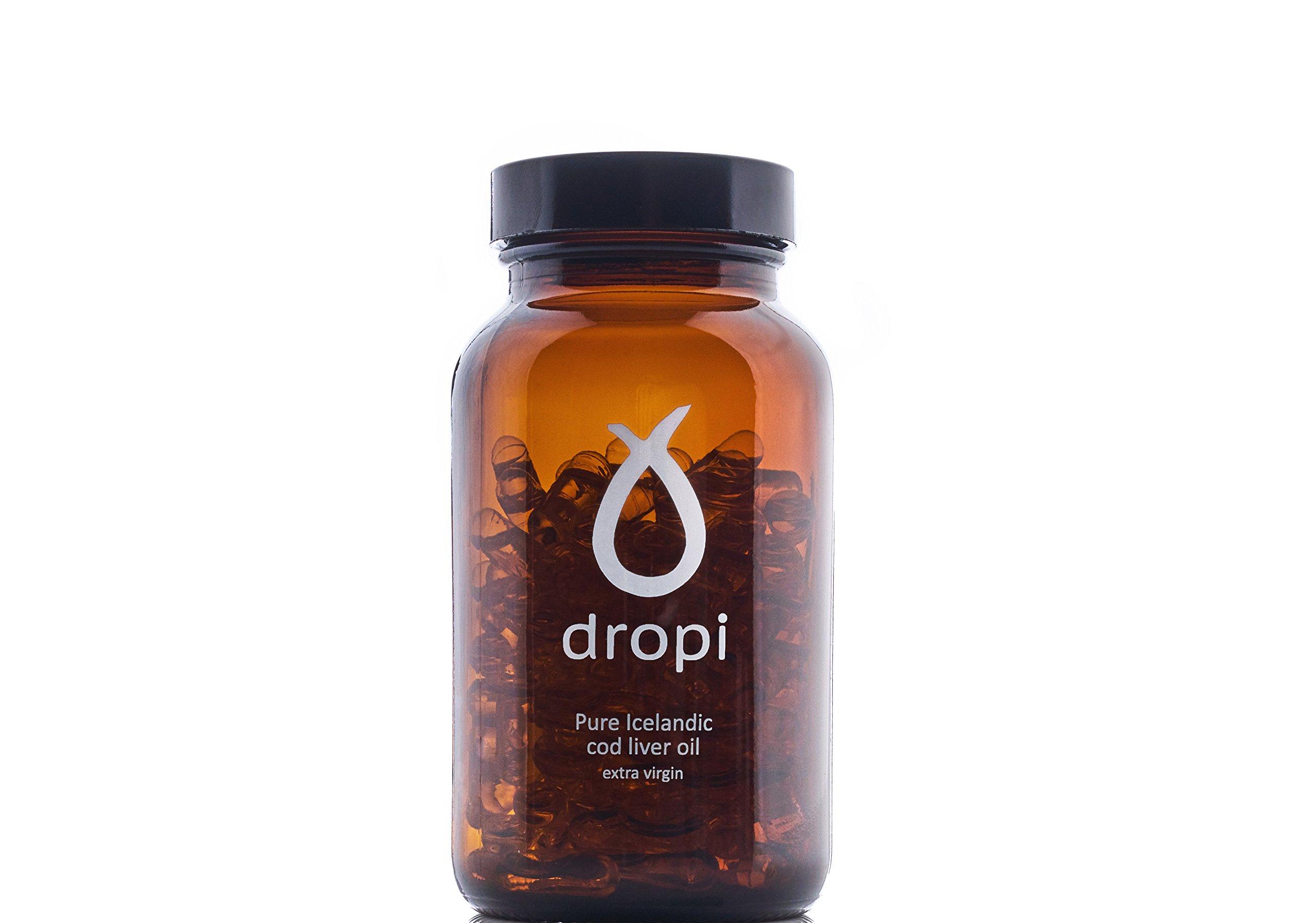 Dropi Pure Icelandic Cod Liver Oil Extra Virgin - 60 capsules
