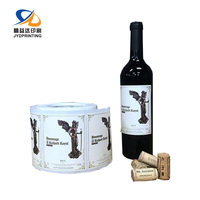 JingYiDa Manufacture Wholesale Custom Red Wine Bottle Label Sticker In Roll