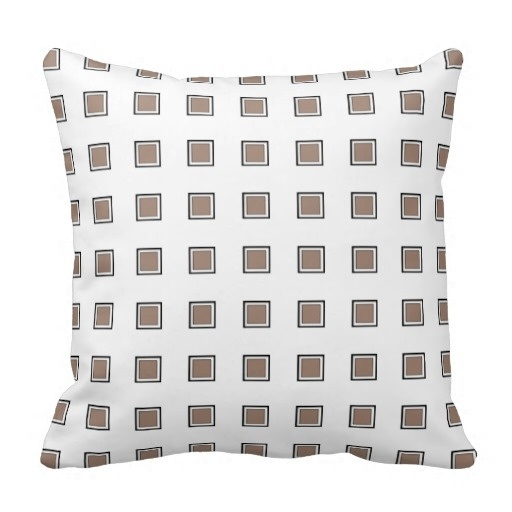 Soft Beaver Checkerboard Classy Pillow Case (Size: 20