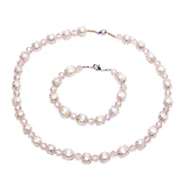 Fashionable china jewelry real ivory pearl set necklace and bracelet