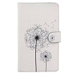 Samsung Tab E 8.0 T375 Tablet Case,Cute [Dandelion] Folio Premium Magnetic PU Leather Case Wallet Flip Stand Cover Built-in Card Slots for Samsung Galaxy Tab E 8.0-Inch SM-T375