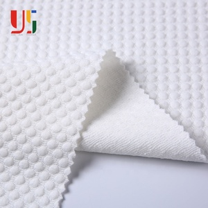 Polyester spandex stocklot suit winter jacket white spandex fabric for coat