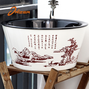 Amazon hot sell low price self watering chinese style planter flower pot