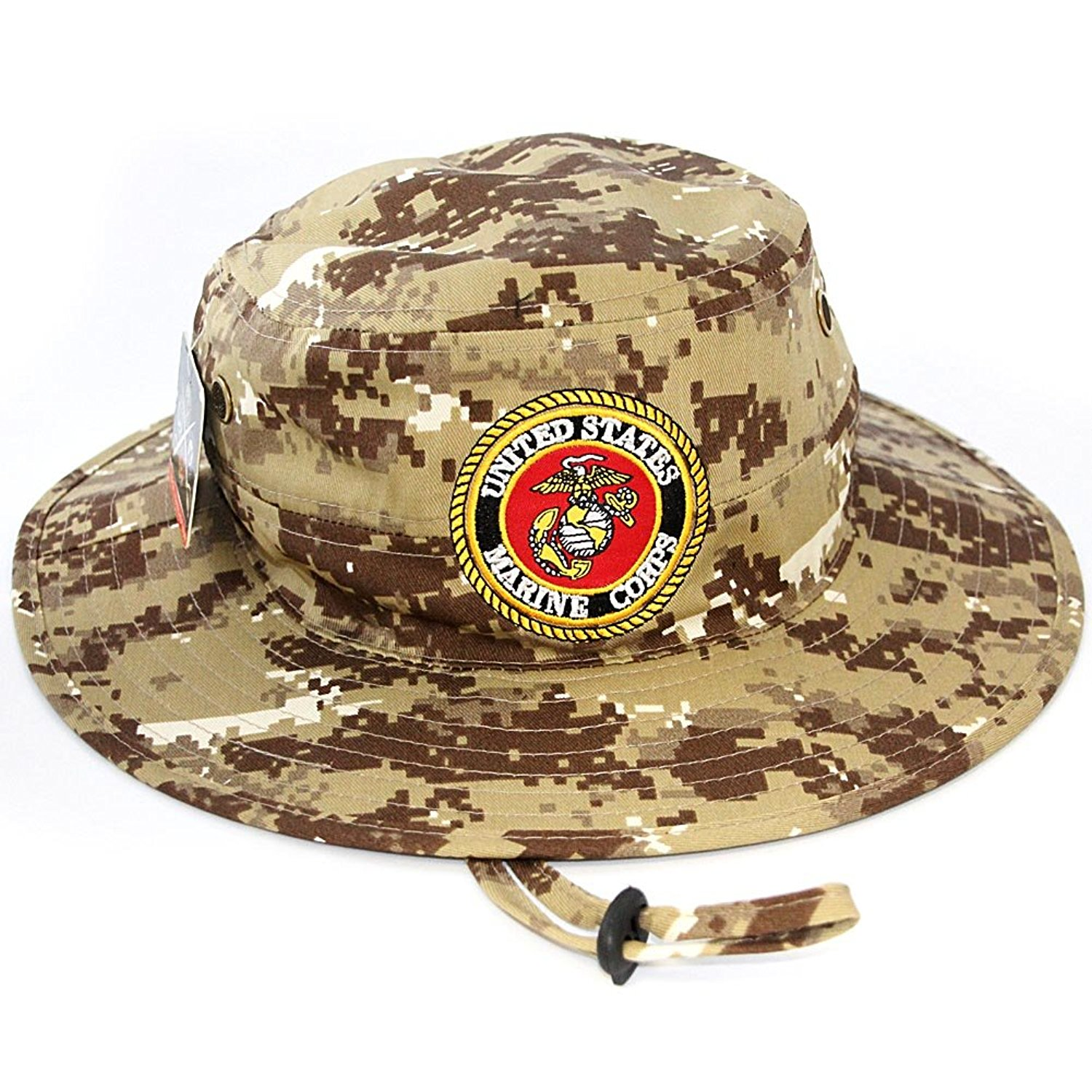 Get Quotations · US Marine Corps Official Licensed Military Boonie Bucket  Sun Hat Desert Camo 6747854db7b7