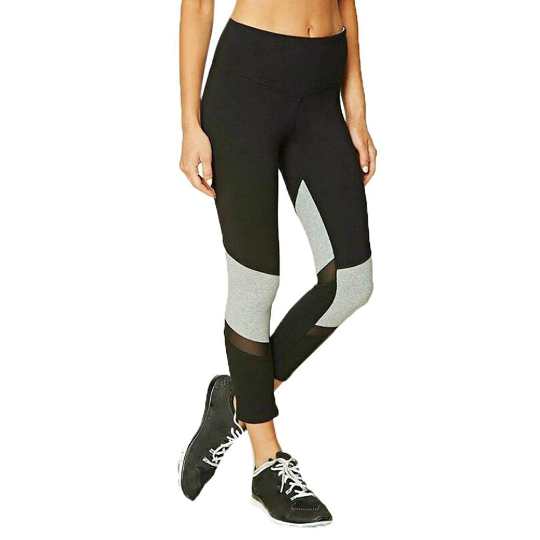 morecome Women Leggings, Patchwork Fitness Yoga Sport Elastic High Waist Pants