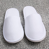 Closed Toe Custom Disposable SPA Slippers Hotel Use with EVA Sole