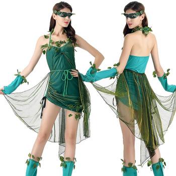 Genie Costumes green beautiful fairy costume Goddess of forest tree demon Halloween costume  sc 1 st  Alibaba & Genie Costumes Green Beautiful Fairy Costume Goddess Of Forest Tree ...