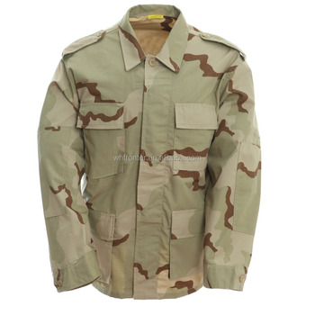 83cd3e60a72bb Cheap hunting clothing wholesale camo army jacket 3 color desert bdu  military camouflage uniform