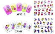 2 Sheet XFXF 3D gilded nail stickers affixed nail polish does not fade nail supplies wholesale