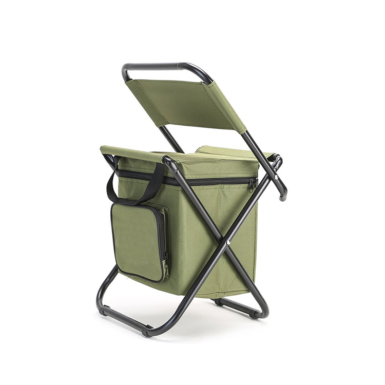 1CL0042 Hot Selling Portable Foldable Cooler Bag With Chair For Picnic