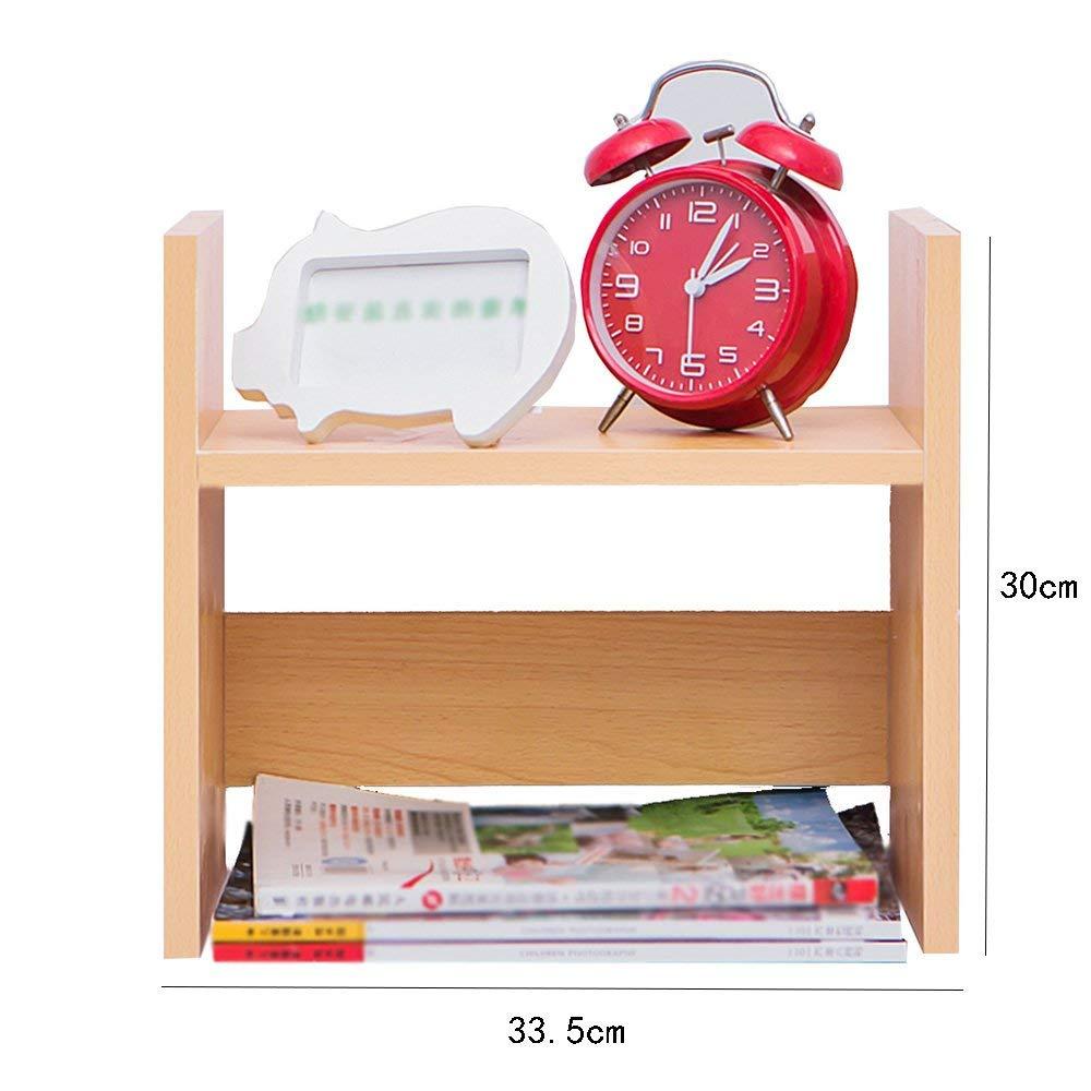 Small Bookshelf, Office Desktop Finishing Racks, Children's Storage Shelf Bookcase (Color : Wood Color)