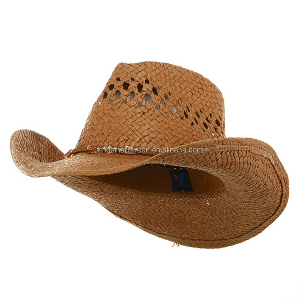 a74e8c5c Alibaba china wholesale vintage western paper straw cowboy hats NC2341