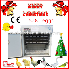 HHD 2016 Nature form industrial eggs incubator 528 eggs CE Approved egg incubator EW-8
