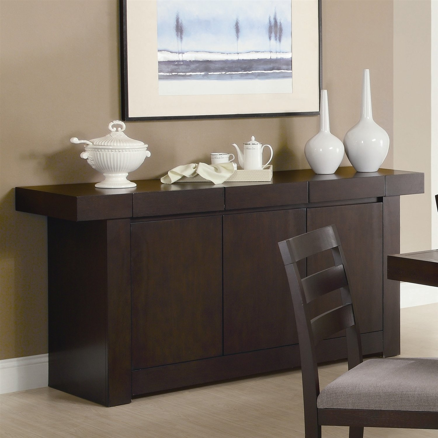 Get Quotations Modern Dining Room Sideboard Server Table Cabinet In Cuccino