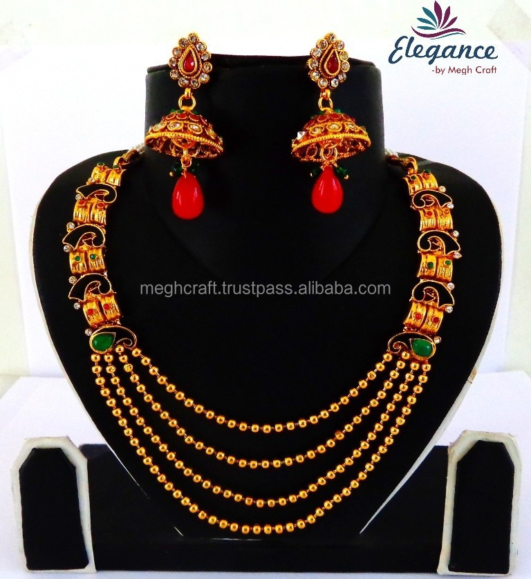5032a1c0aa1ff Traditional South Indian Jewellery-antique Necklace Set-indian Wholesale  Rani Haar Set-south Indian Long Rani Haar Jewelry Set - Buy Antique Jewelry  ...