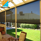 Side installation slat aluminum sun shading zip track screens