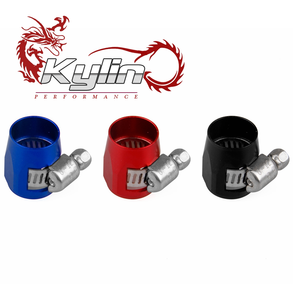 kylin racing NEW Fuel Oil AN6 5/16'' Fittings HEX Finishers Clamps 16.0mm Water Tube Hose