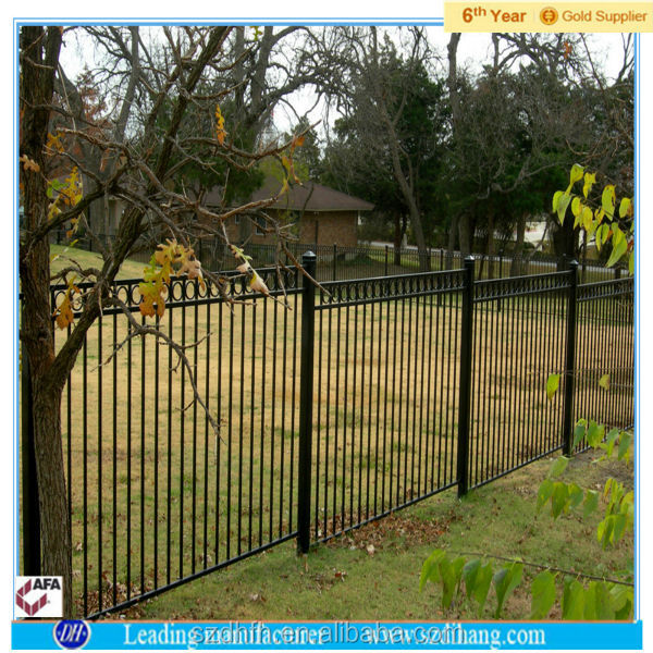 2017 New Design Cheap Wrought Iron Fence Panel/ Aluminum Metal Picket Ornamental Fence