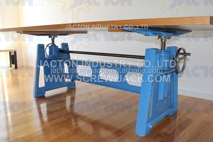 Industrial Style Hand Crank Lift Tables Base 2.5t Kits Crank Table  Mechanism For Adjustable Table