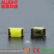 hot sale 1.0x0.5x0.4 mm surface mount 20mA 0402 warm white led