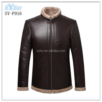 Fashion Men's Double Faced Fur Leather Jacket And Sheepskin ...