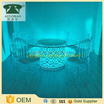 hot sale round glass dining table 6 chairs set - buy round glass