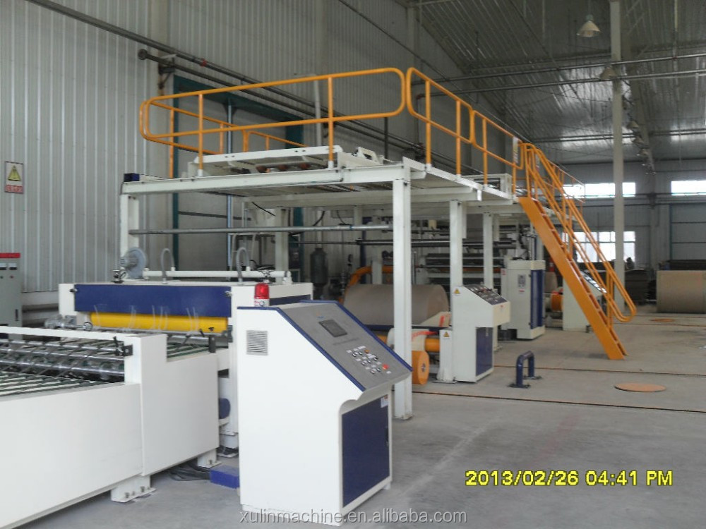 xulin machines in series of corrugated cardboard production line