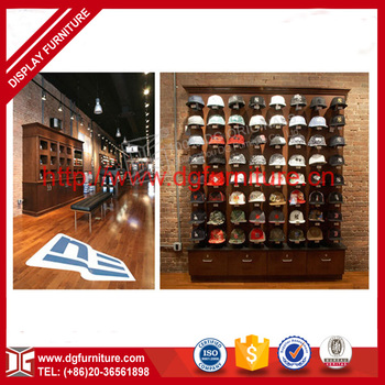 High quality floor standing hat display rack for retail - Perchero para sombreros ...