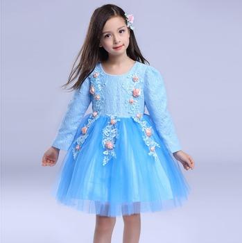 014647b1f8229 De Style automne Fille Robe Bébé Filles Soirée Élégante Enfants Robes ...