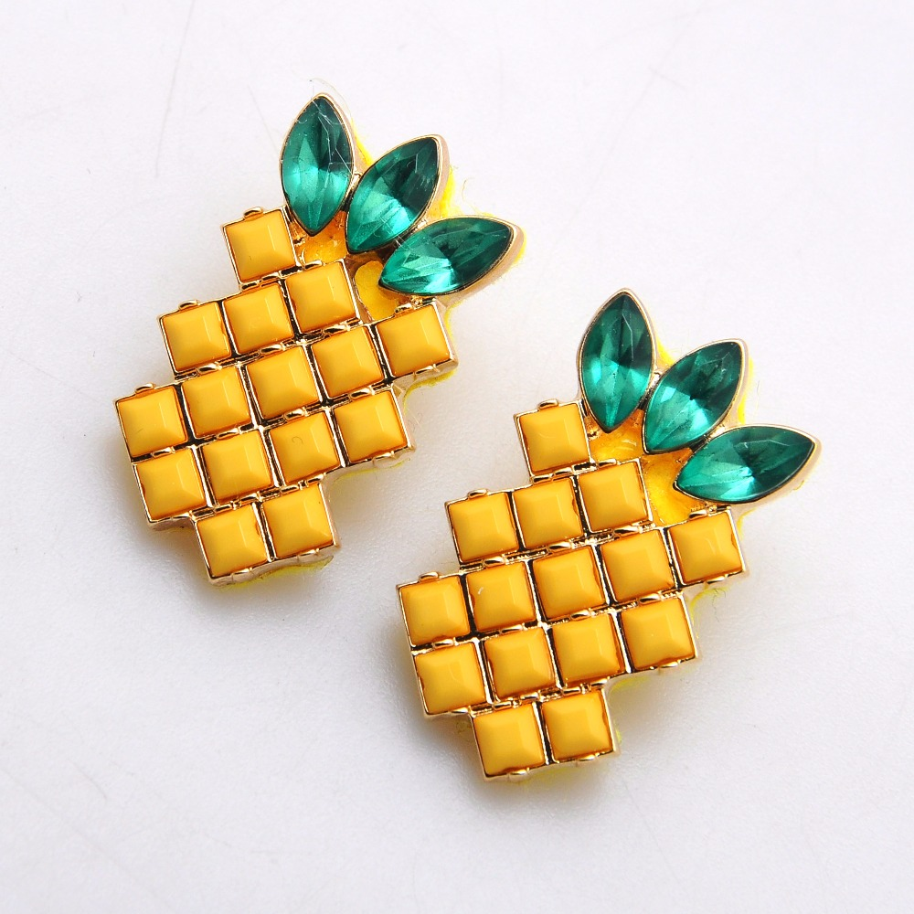 Pineapple Stud Earrings, Pineapple Stud Earrings Suppliers And  Manufacturers At Alibaba