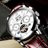 2017 Trend New Brand Men Luxury Japan Movement Mechanical Watch Stainless Steel Back Watches Men