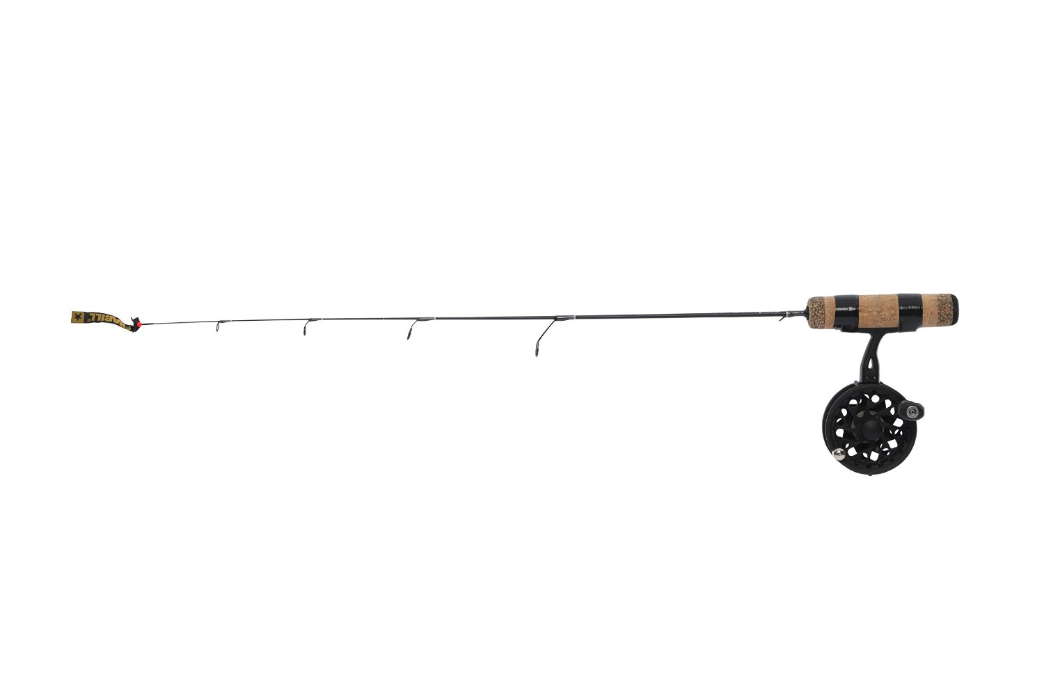 Frabill Straight Line 101XLA 27-Inch Quick Tip Ice Fishing Combo, Black