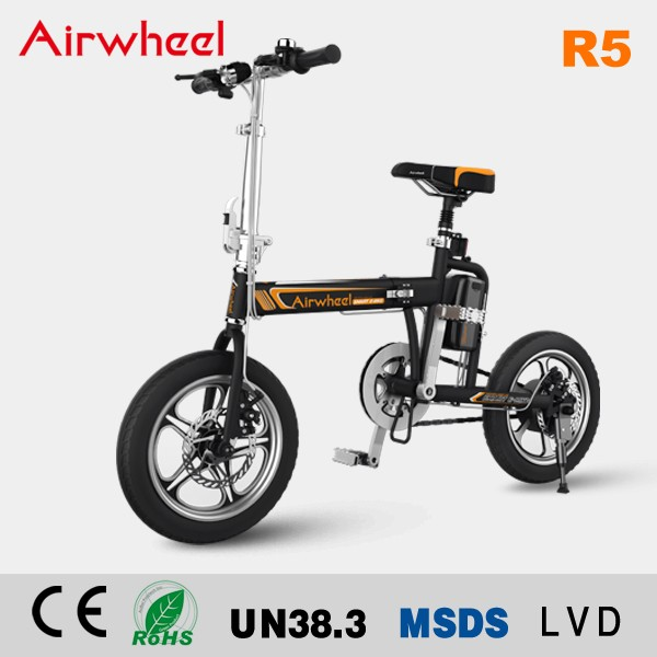 Airwheel R5 new model 16inch 40KM 235Watt foldable electric bike moped with pedals