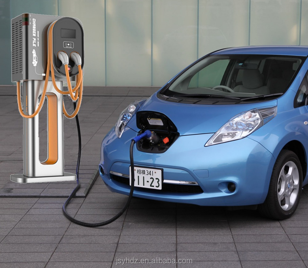 YINHE Electric Vehicle DC Quick Charge Station with CHAdeMO and IEC CCS combo-2 plug