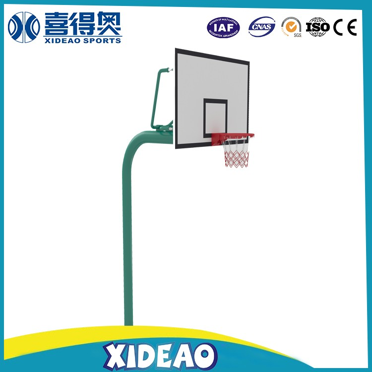 school outdoor basketball stands with ring and hoop